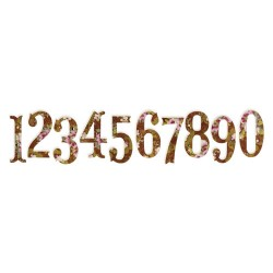 (658338)Sizzlits Decorative Strip Antiqua Numbers