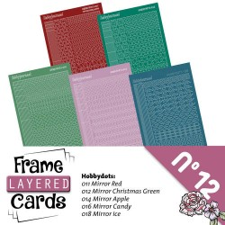 (LCST012)Stickerset Layered frame cards 12