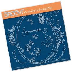 (GRO-FL-41434-03)Groovi Plate A5 BARBARA'S ENTWINED WREATH - SUMMER