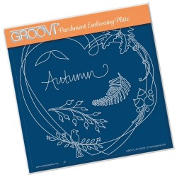 (GRO-FL-41435-03)Groovi Plate A5 BARBARA'S ENTWINED WREATH - AUTUMN