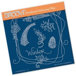 (GRO-FL-41436-03)Groovi Plate A5 BARBARA'S ENTWINED WREATH - WINTER