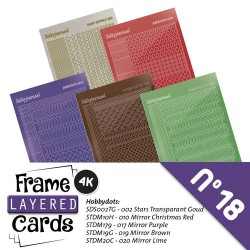 (LCST018)Stickerset Layered frame cards 18