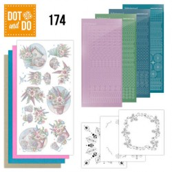 (DODO174)Dot and Do 174 - Yvonne Creations - Flowers in Pastel