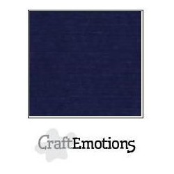 (001232/1095)CraftEmotions linen cardboard 10 Sh dark blue LHC-05 A4 250gr