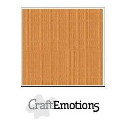 (001232/1240)CraftEmotions linen cardboard 10 Sh toffee LHC-91 A4 250gr