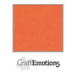 (001232/1215)CraftEmotions linen cardboard 10 Sh orange LHC-23 A4 250gr