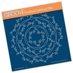 (GRO-PA-41446-03)Groovi Plate A5 NESTED BORDER FRAME - VINES AND RIBBON