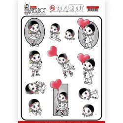 (SB10432)3D Pushout - Yvonne Creations - Petit Pierrot - With Love