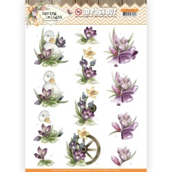 (SB10422)3D Pushout - Precious Marieke - Spring Delight - Purple Crocus