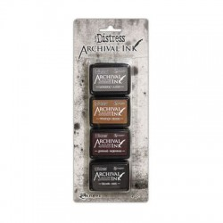 (AITK64848)Ranger Tim Holtz distress archival mini ink pad kit 3
