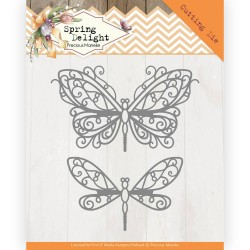 (PM10171)Dies - Precious Marieke - Spring Delight - Spring Butterfly