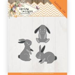 (PM10175)Dies - Precious Marieke - Spring Delight - Spring Bunnies