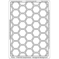 (TP3615E)PCA® - EasyEmboss Hexagonal Background