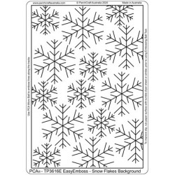 (TP3616E)PCA® - EasyEmboss Snowflakes Background