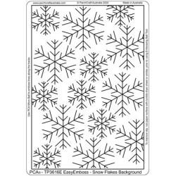 (TP3616E)PCA® - EasyEmboss Snowflakes Background