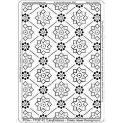 (TP3617E)PCA® - EasyEmboss Starry Jewel Background