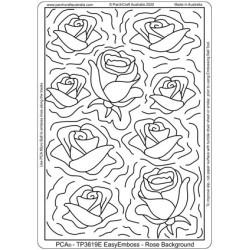 (TP3619E)PCA® - EasyEmboss Rose Background