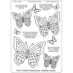 (TP3621E)PCA® - EasyEmboss Butterfly Toppers