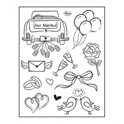 (4003 216 00)Clear Stamps - Just Married