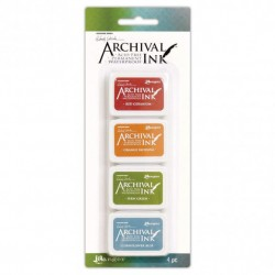 (AMDK58960)Ranger Wendy Vecchi mini archival ink pad kit 4