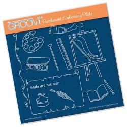 (GRO-OB-41475-03)Groovi Plate A5 Hobbies - Art