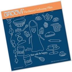 (GRO-OB-41474-03)Groovi Plate A5 Hobbies - Baking