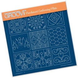 (GRO-PA-41484-15)Groovi Plate A4 Embroidery Sampler