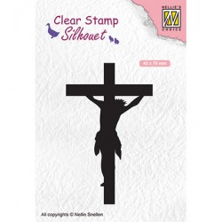(SIL058)Nellie`s Choice Clearstamp - Cross