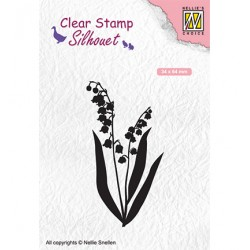 (SIL065)Nellie`s Choice Clearstamp - Lily of the valley