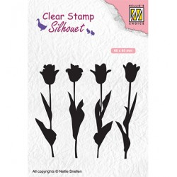 (SIL066)Nellie`s Choice Clearstamp - tulips