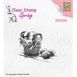 (SPCS012)Nellie`s Choice Clearstamp - Spring- Easter eggs