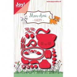 (6002/1426)Cutting embossing dies Mon Ami Chat Lizzy