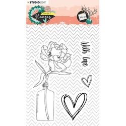 (STAMPSFL436)Studio light Stamp Sweet Flowers nr.436