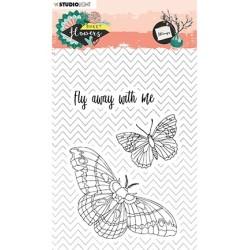 (STAMPSFL437)Studio light Stamp Sweet Flowers nr.437