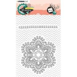 (STAMPSFL438)Studio light Stamp Sweet Flowers nr.438