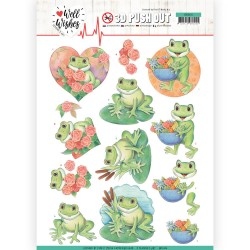(SB10426)3D Pushout - Jeanine's Art - Well Wishes - Frogs