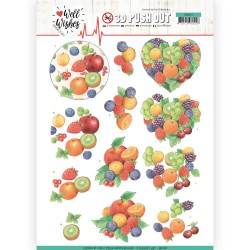 (SB10427)3D Pushout - Jeanine's Art - Well Wishes - Fruits