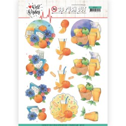 (SB10429)3D Pushout - Jeanine's Art - Well Wishes - Pills and Vitamins