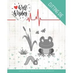 (JAD10094)Dies - Jeanine's Art - Well Wishes - Smiling Frog