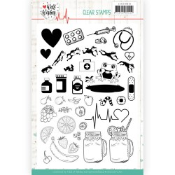(JACS10031)Clear Stamps - Jeanine's Art - Well Wishes