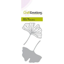 (115633/0252)CraftEmotions Die - Ginkco leaves open and closed