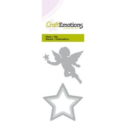 (115633/0255)CraftEmotions Die - Christmas angel with star