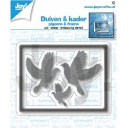(6002/1452)Cutting embossing debossing dies pigeons & frame