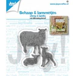 (6002/1464)Cutting debossing dies sheep & lambs