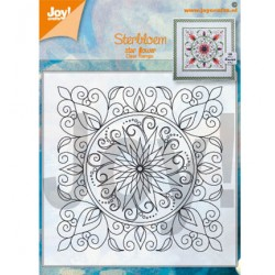 (6410/0534)Clear stamp star flower