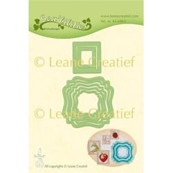 (45.6463)Lea'bilitie Cutting die Frames swirl & postage stamps
