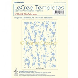 (95.6272)LeCrea Templates Oil & Paint spots