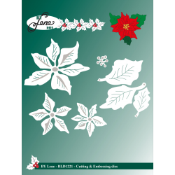 (BLD1221)By Lene Cutting & Embossing Dies Large Poinsettia
