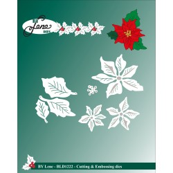 (BLD1222)By Lene Cutting & Embossing Dies Small Poinsettia