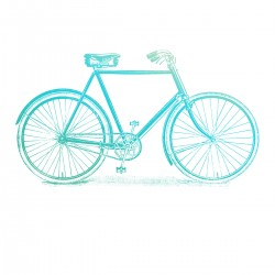 (CO726842)Couture Creations Bicycle Mini Stamp